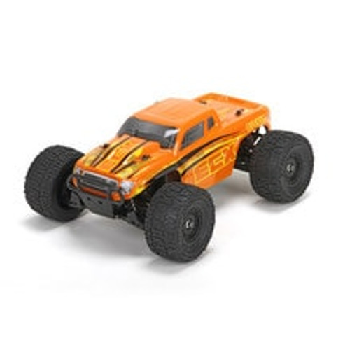 ECX Ruckus 1:18 4WD Monster Truck: Orange/Yellow RTR (ECX01000T2)