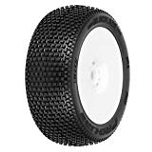 Blockade X3 (Soft) Off-Road 1:8 Buggy Tires Mounted (White)
