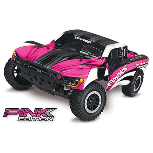 TRAXXAS Slash 1/10 RTR Electric 2WD Short Course Truck w/TQ 2.4GHz Radio System - Pink