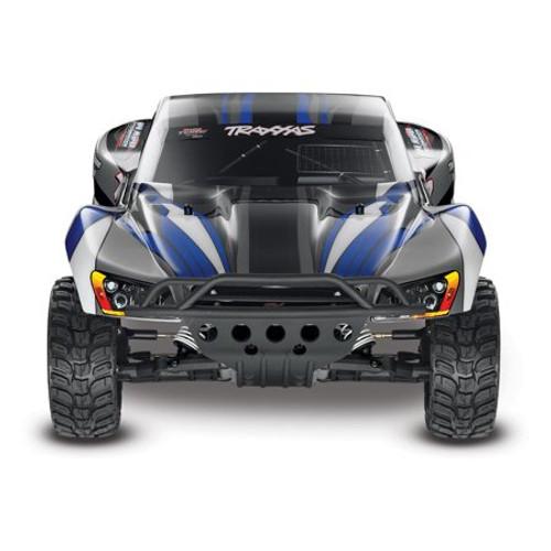 TRAXXAS Slash 1/10 RTR Electric 2WD Short Course Truck w/TQ 2.4GHz Radio System - Silver/Blue