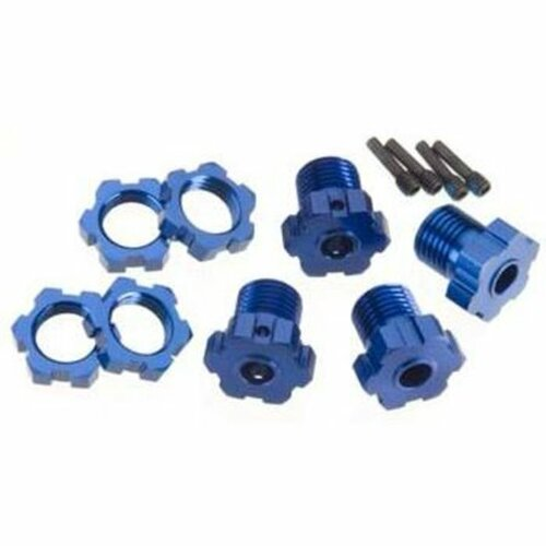 Traxxas 17mm Splined Wheel Hub Set (Blue) (4) (TRA5353X)