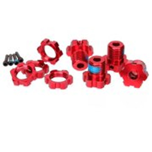 Traxxas 17mm Splined Wheel Hub Set (Red) (4) (TRA5353R)
