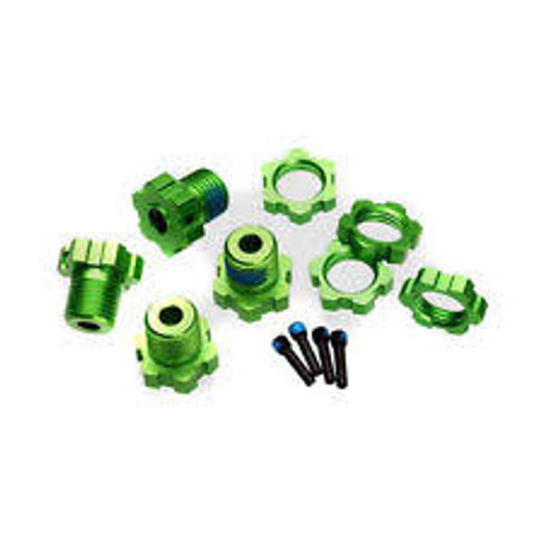 Traxxas 17mm Splined Wheel Hub Set (Green) (4) (TRA5353G)