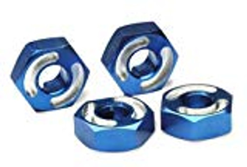 Traxxas Aluminum Hex Wheel Hubs w/2.5x10mm Axle Pins (Blue) (4) (TRA4954X)