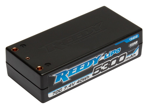Reedy 2S Hard Case LiPo Shorty 70C Competition Battery Pack (7.4V 5300mAh) a753cb665082
