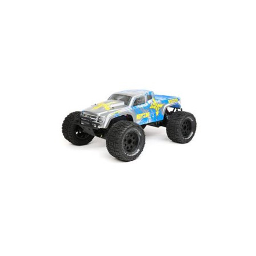 ECX Ruckus 1/10 2WD RTR Electric Monster Truck (Silver/Blue) w/STX2 2.4GHz Radio, Battery & Charger