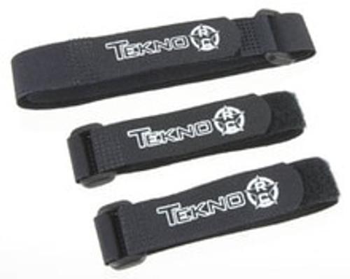 Tekno RC Battery Strap (Black) (3) (TKR40007K)