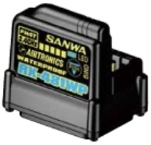 Sanwa 4-channel RX481 Waterproof Receiver w/ built-in Antenna (SNW107A41314A)