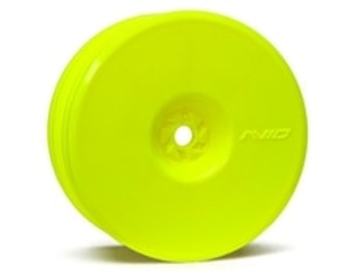 "Avid RC 12mm Hex Satellite 2.2"" Front Buggy Wheels (Yellow) (2) (B6/RB6/YZ2) (AV1103-Y)"