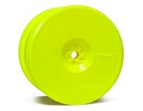 "Avid RC 12mm Hex Satellite 2.2"" Rear Buggy Wheels (Yellow) (2) (B6/22/RB6/ZX6) (AV1102-Y)"