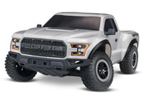 Traxxas 2017 Ford Raptor RTR Slash 1/10 2WD Truck (Silver) w/TQ 2.4GHz Radio, Battery & DC Charger