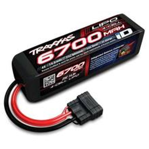 "Traxxas 4S ""Power Cell"" 25C LiPo Battery w/iD Traxxas Connector (14.8V/6700mAh) (TRA2890X)"