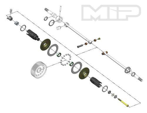 "MIP Associated B5/B6 Roller ""Pucks"" Bi-Metal Drive System"