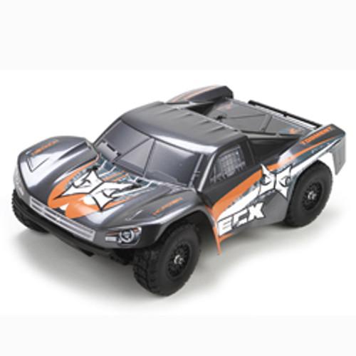 ECX Torment 1/18 RTR 4WD Short Course Truck w/2.4GHz Radio (Gray/Orange)