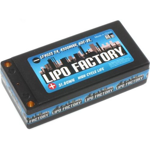 Trinity 2S-4300mah 60C Shorty Pack with 5mm bullets