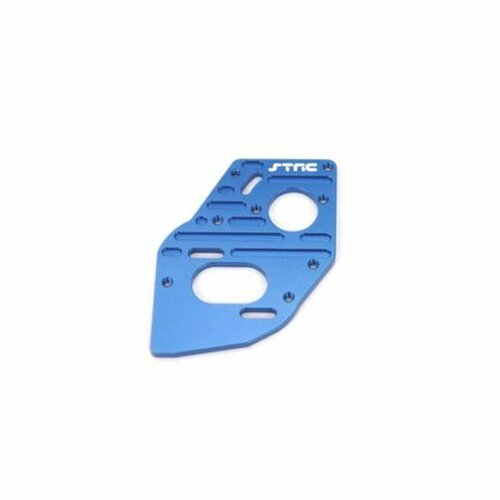 STRC CNC MACHINED ALUMINUM HEATSINK FINNED MOTOR PLATE FOR SC10 4X4 (Blue)