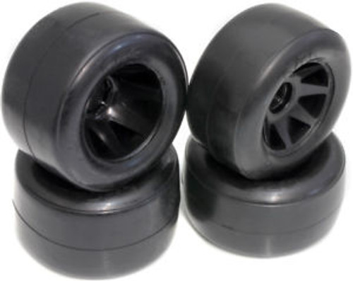 Calandra Racing Concepts Front & Rear Mounted RT1 Tires on Black GTR Wheels (4) F1