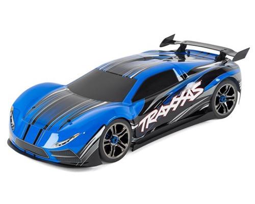 Traxxas XO-1 1/7 RTR Electric 4WD On-Road Sedan (Blue) w/2.4GHz TQi Radio, TSM & Link Wireless Module