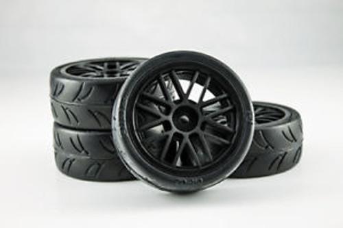 Gravity RC USGT Pre Glued Tires ( GT Wheel, Black)