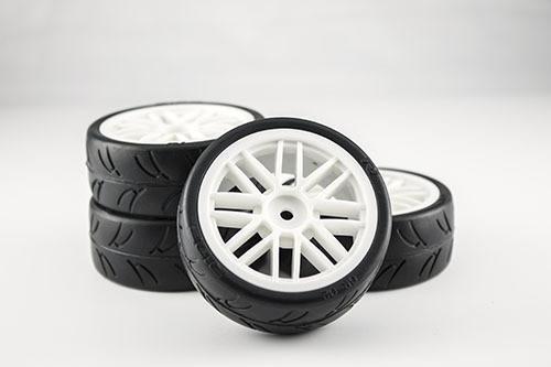 Gravity RC USGT Pre Glued Tires ( GT Wheel, White)