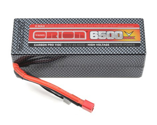 Team Orion 4S Carbon V-Max 110C LiPo Pack Battery w/Deans (15.2V/6500mAh) (ORI14077)