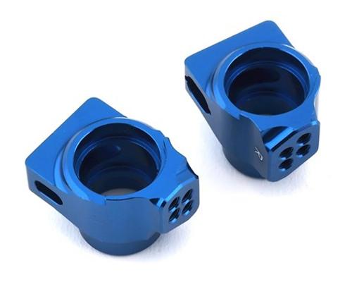 Team Associated B6/B6D Factory Team Aluminum Rear Hub Set (Blue) (ASC91760)
