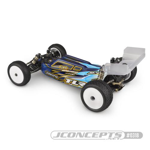 JConcepts S2 - TLR 22 4.0/5.0 BODY W/ Aero Wing (Clear)