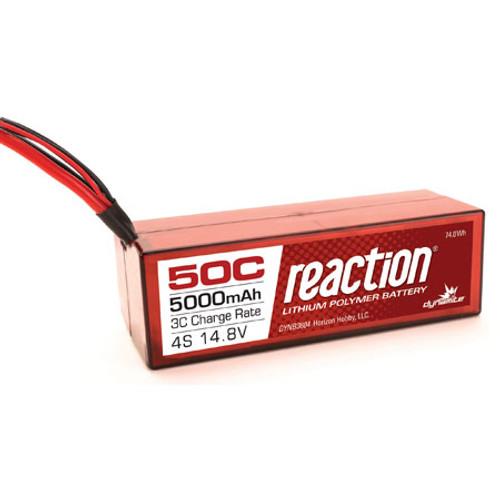 Dynamite Reaction 14.8V 5000mAh 4S 50C LiPo, Hardcase:Deans