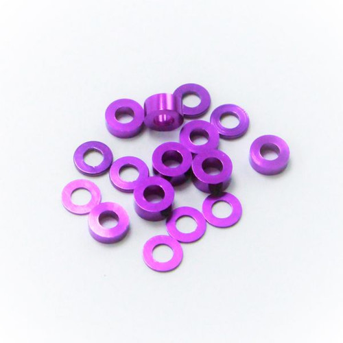 17.5 RC M3 Ball Stud Washers (16) (Purple)