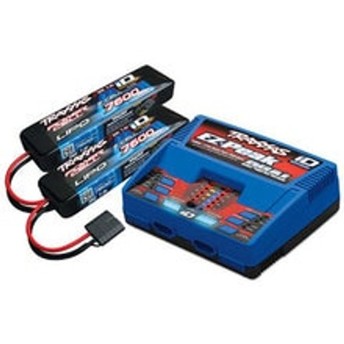 "Traxxas EZ-Peak 2S ""Completer Pack"" Dual Multi-Chemistry Battery Charger w/Two Power Cell 2S Batteries (7600mAh) (TRA2991)"