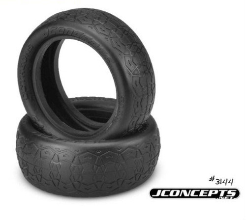 "JConcepts Octagons 2.2"" 4WD 1/10 Front Buggy Tires (2) (Green)"
