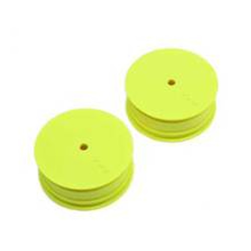 Team Losi Racing 12mm Hex Stiffezel Front 2WD Buggy Wheels (Yellow) (2) (22 4.0) (TLR43018)
