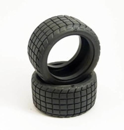 Custom Works RC Rear Sticker Tire (2) STDCompound (CSW6217)