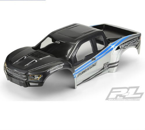 Pro-Line X-MAXX 2017 Ford F-150 Raptor Pre-Painted Body (Gray/Blue) (PRO3482-13)