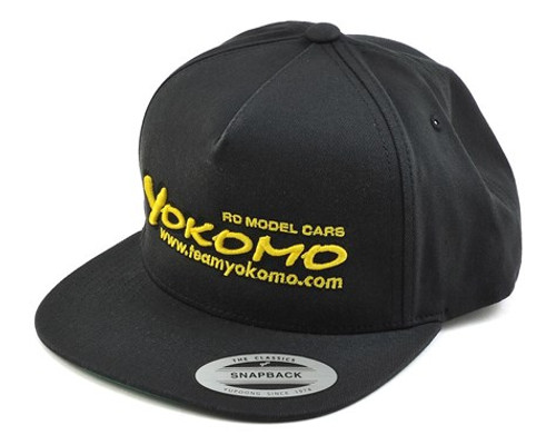 Yokomo Flat Bill Snap Back Hat (Black) (YOKHAT)