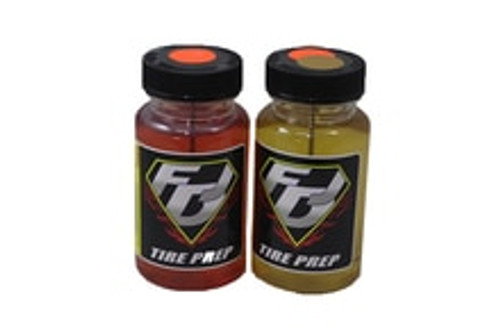 FDJ MOTORSPORTS Tire Traction/Tire Conditioner - Oval Combo (Orange Dot & Orange/Gold Dot)