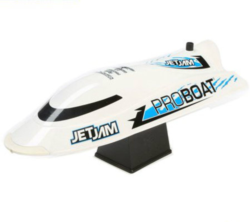 PRO BOAT Jet Jam 12-inch Pool Racer, White: RTR (PRB08031T2)