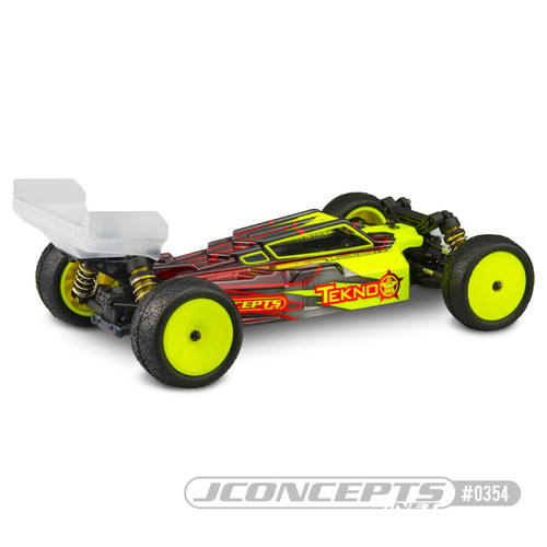 JConcepts F2 Tekno EB410 Body W/Aero Wing (Clear)