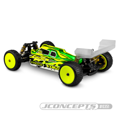 JConcepts S2 Yokomo YZ-4 SF Body W/Aero Wing (Clear)