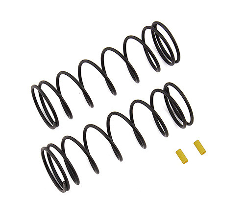 Team Associated RC8B3.1 Front V2 Shock Spring Set (Yellow - 5.7lb/in) (2) (ASC81226