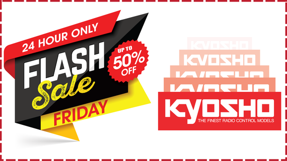 Flash Sale Friday(7/23): Up to 50% off all remaining Kyosho Stock!