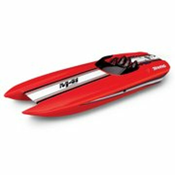 "Traxxas DCB M41 Widebody 40"" Catamaran High Performance Race Boat w/TQi 2.4GHz Radio & TSM - RED"