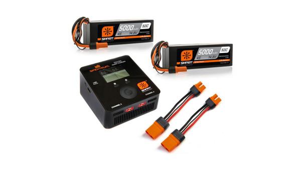 Spektrum RC Smart PowerStage 8S Bundle w/Two 4S Smart LiPo Hard Case Batteries