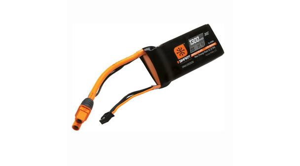 Spektrum RC 11.1V 1300 mAh 30C 3S Smart LiPo Battery, IC3 (SPMX13003S30M)