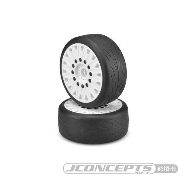 JConcepts Speed Fangs Belted Tire Pre-Mounted w/Cheetah Speed-Run Wheel (White) (JCO3113-19)