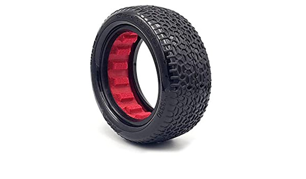 """AKA Scribble 2.2"""" Front 4WD Buggy Tires (2) (Clay)"""