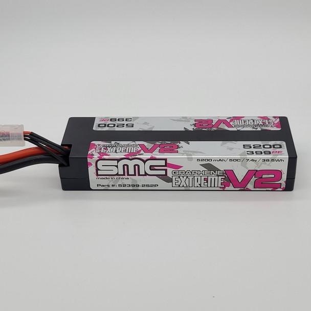 True Spec Extreme Graphene V2 7.4V 5200mAh 50C Hardcase (Deans plug) (52399-2S2P)
