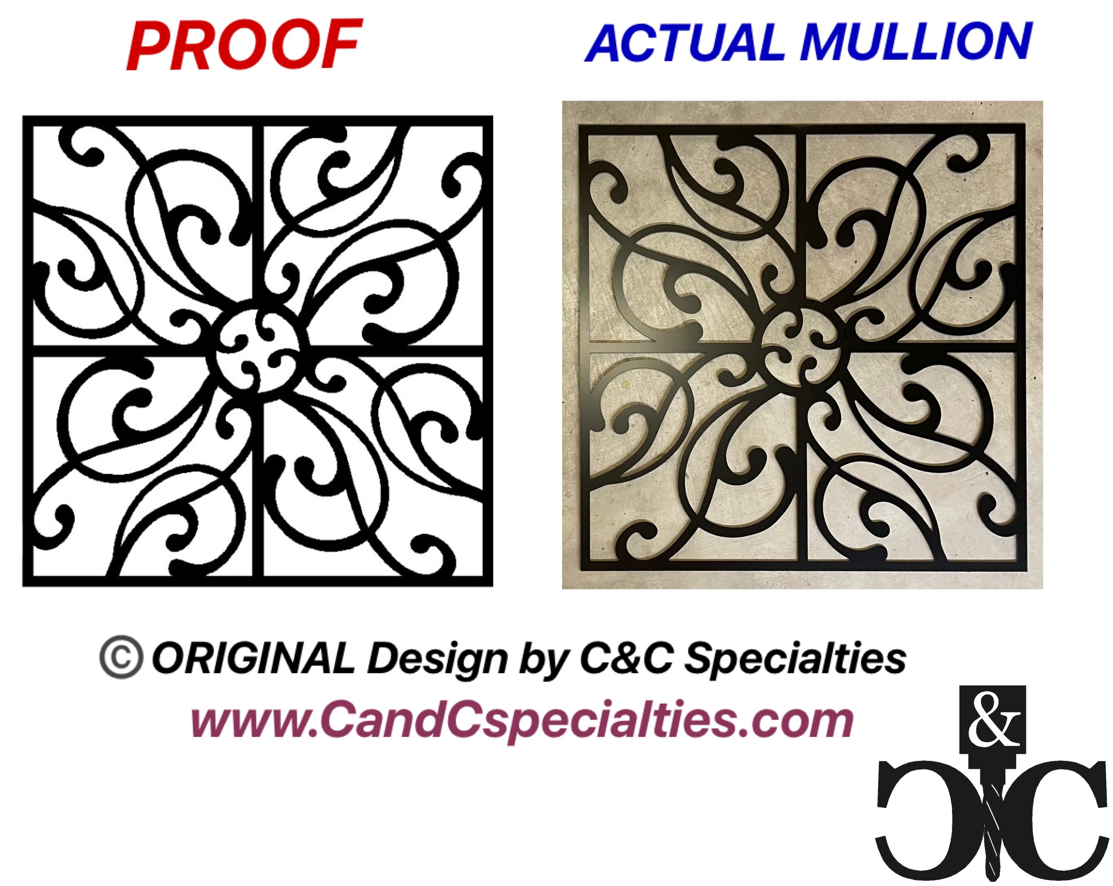 CUSTOM DESIGN PROOF VS ACTUAL MULLION