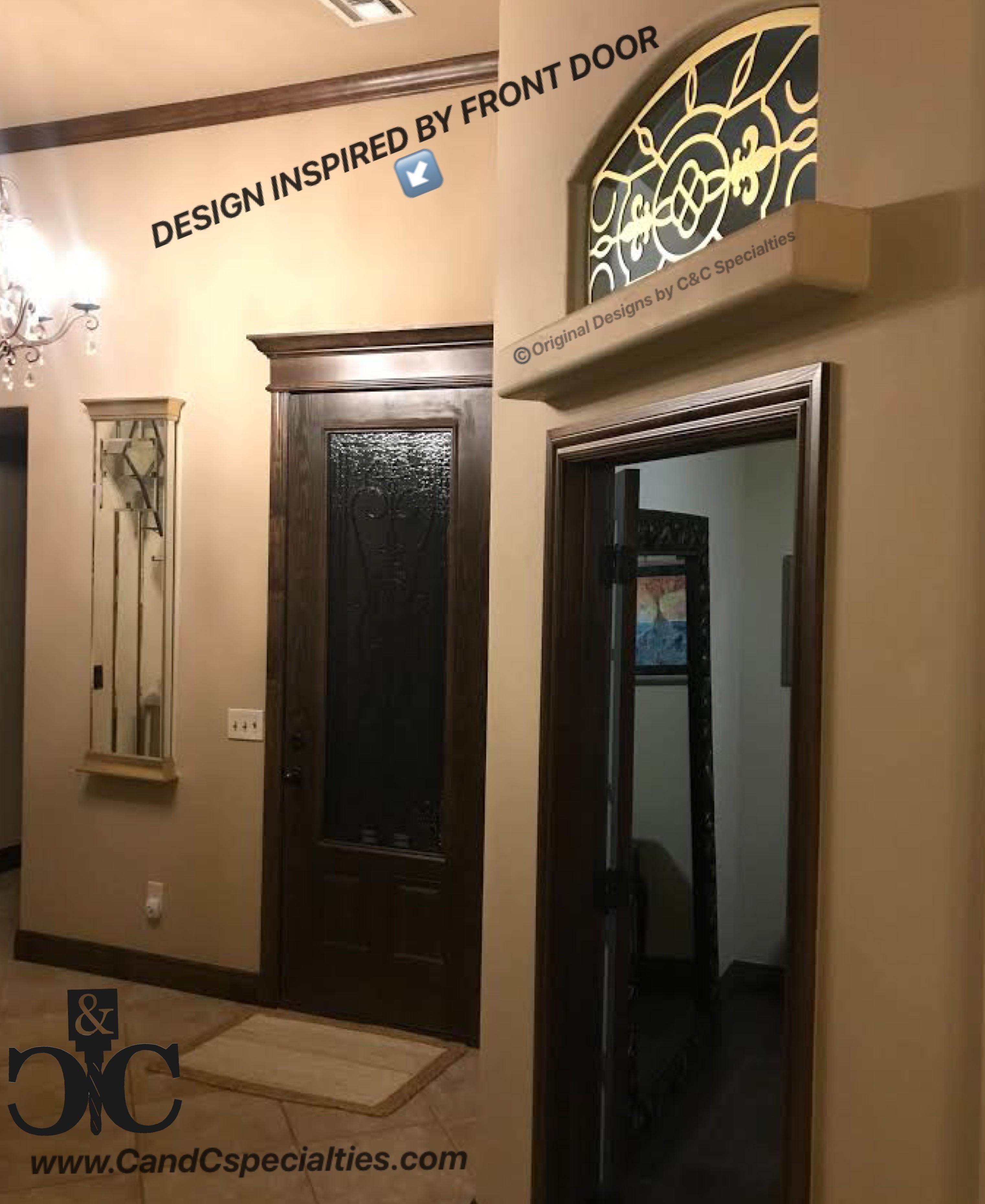 COMPLETLEY UNIQUE AND CUSTOM DESIGN FOR MULLION BASED OFF FRONT DOOR DESIGN