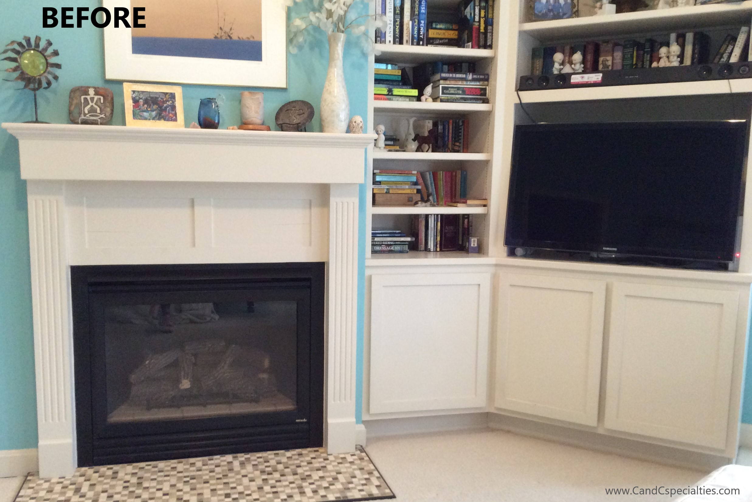ADDITIONS TO BUILT IN & FIREPLACE